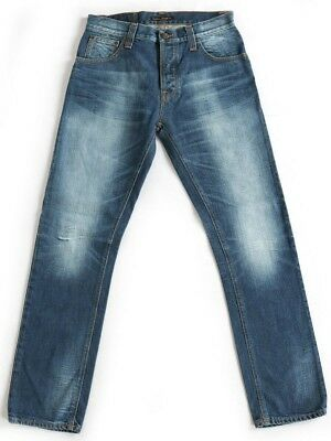Begeistert Nudie Herren Regular Fit Jeans Hose | Hank Rey Organic Worn Denim | w30 L32