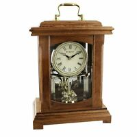 Wm.widdop Wood Mantel Clock Lantern Style With Handle