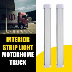 2x-24V-LED-Luz-Blanca-Interior-Lampara-Del-Coche-Panel-Luces-Wholesale-blanc