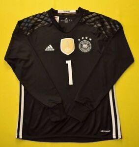 16b32cccc4b Manuel Neuer 2014 world cup jersey kids youth shirt black ADIDAS ...