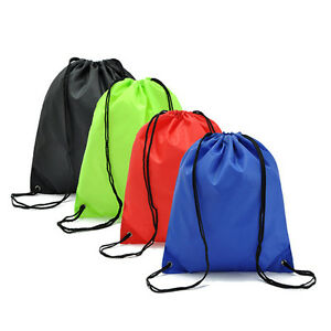 School Drawstring Book Bag Sport Gym Swim PE Dance Girls Boys Kids Backpack 8192