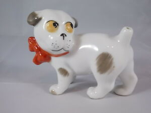 Grotesker-Dog-with-Bow-Pepper-Porcelain-Gotha-Art-Deco-Approx-1930