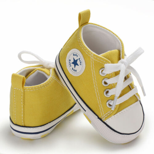 0-12M Baby Boy Girl Anti-slip Soft Sole Crib Shoes Newborn Sneakers Prewalkers