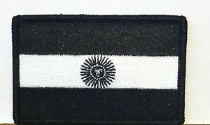 BOSNIA FLAG Patch Iron-On Black /& White Version Military Morale Tactical
