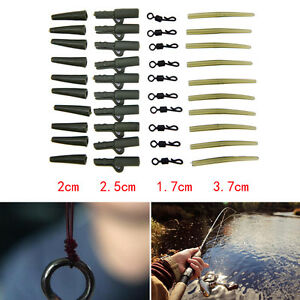 40x-Fishing-Tackle-clip-di-piombo-per-carpa-Change-swivels-Anti-Tangle-Sleeve-UD