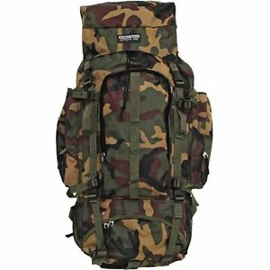 Camo Heavy-Duty Mountaineers Backpack, Mens Internal Frame ...