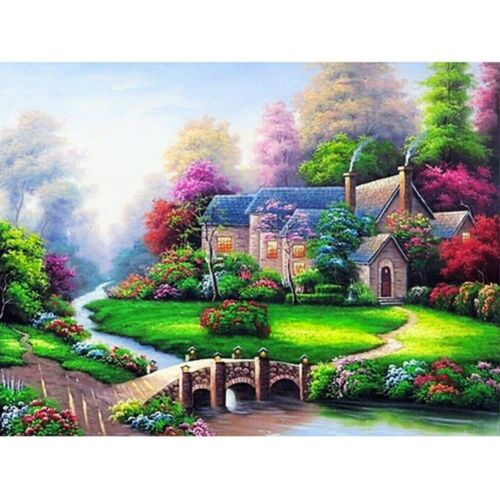 5D Diamond Painting Full Drill Embroidery Cross Stitch Kit Country Cottage Decor