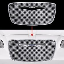 2015 2016 Chrysler 300 CHROME Grille Overlay Front Full Mesh Grill Cover Insert