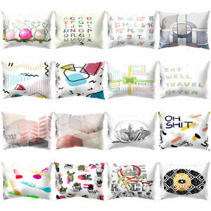 Am-Letter-Print-Pillow-Case-Cushion-Cover-Sofa-Bed-Car-Office-Decor-30x50cm-Eye