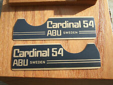 ABU CARDINAL 54 STICKERS / DECALS / BADGES