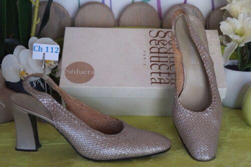 Cuir Pointure En Escarpins Occasion Chaussures 41 Séducta Paris Femme qHUIpWnw