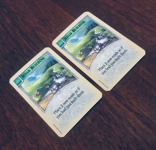 Catan Extra//Replacement Game Pieces /'Road Building/' Development Card x2