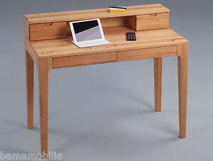 Schreibtisch kernbuche massiv sekret r pc laptop tisch for Schreibtisch kernbuche