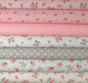 landhaus stoffpaket 5 stoffe 30x70cn rosen patchwork ko shabby chic streifen ebay. Black Bedroom Furniture Sets. Home Design Ideas