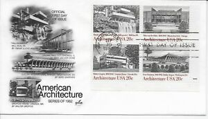 US-Scott-2019-22-First-Day-Cover-9-30-82-Washington-Plate-Block-Architecture