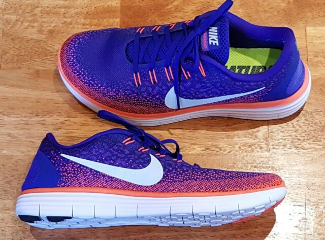 87bc1fc5bacd9 Nike Men s Size 9.5 RN Distance Running Shoes Concord Grape Crimson ...