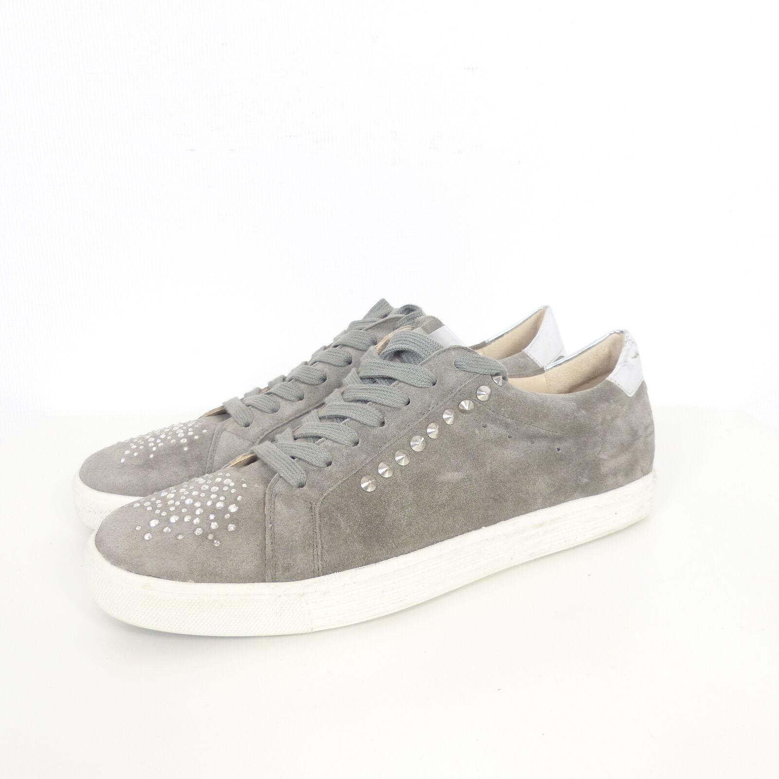 KENNEL & SCHMENGER Sneaker Turnschuhe Swarovski Nieten grey Gr. 8,5