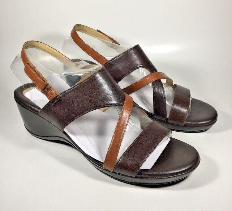 M2007 New Women's Naturalizer Tender Brown Leather Sandals Size 10.5 M