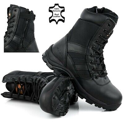 PPE MENS LIGHTWEIGHT COMBAT POLICE TATICAL STEEL TOE CAP WORK SAFETY BOOTS SHOES