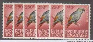 A6956 : (6) Togo # C39 Excellent État, Og, Nh /LH ; Cv