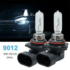 2-x-9012-12V-55W-HIR2-PX22D-Clear-HEADLIGHT-Headlamp-Halogen-Bulbs-Pair-NEW-CAR