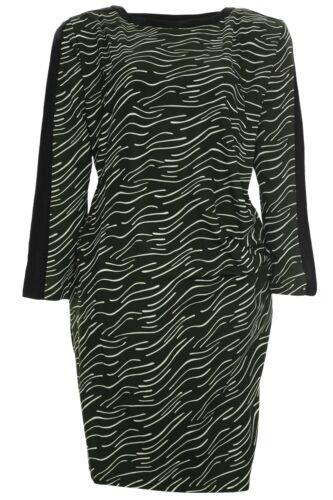 X TWO robe dress Uta Femmes Superposé Tunique plusgröße manches longues vert taille 58