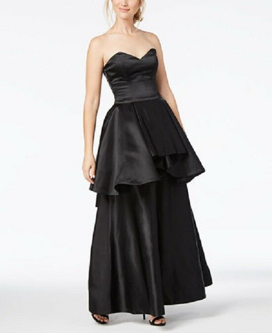 Fame and Partners Strapless Peplum Gown Größe 18 S 131