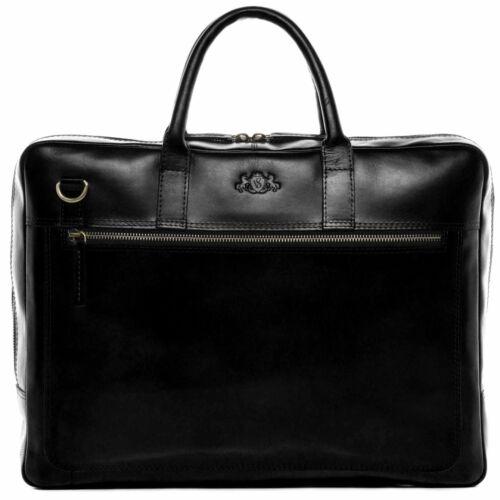 Laptoptasche Leder Business Aktentasche Schultertasche Herren Damen schwarz