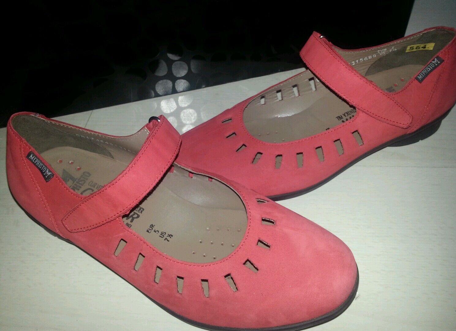 Mephisto Damen Klettverschluss Schuhe gr. 38 Rot ungetragen