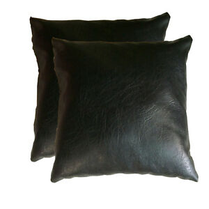 Wondrous Details About 16 Faux Leather Couch Pillow Sofa Throw Pillow Cushion Covers Complete Pillow Pabps2019 Chair Design Images Pabps2019Com