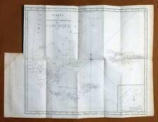 CARTE DE LA TERRE DE FEU EN AMERIQUE DU SUD Gravure Voyage de COOK James 1778