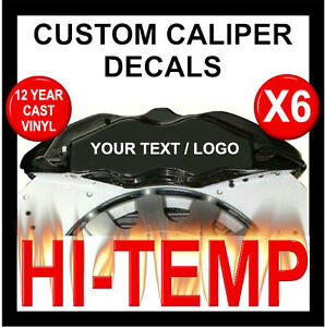 CUSTOM TEXT LETTERING HI TEMP PREMIUM CAST VINYL BRAKE CALIPER - Custom vinyl stickers ebay