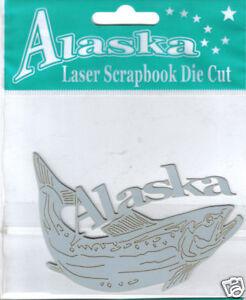 Acid-Free-Alaska-Salmon-Laser-Scrapbook-Die-Cut-ships-worldwide-salmon-fishing