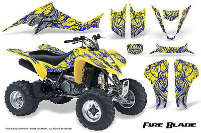 Suzuki LTZ 400 or Kawasaki KFX 400 Graphics Decal Kit Fits 2003-2008 Design No5600 metal