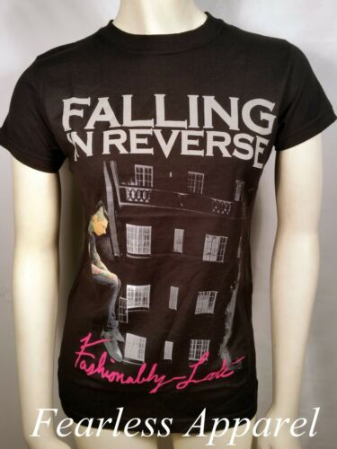 FALLING IN REVERSE FASHIONABLY LATE ALBUM ROCK MUSIC WOMENS T TEE SHIRT S-2XL