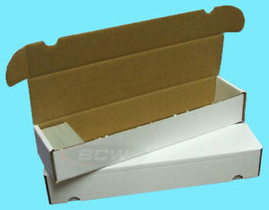 2-BCW-930-COUNT-CARDBOARD-CARD-STORAGE-BOXES-Trading-Sports-Case-Baseball-Holder
