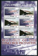 DOMINICA 2007 Concorde Flugzeuge Aircraft Airplanes 3803-04 Kleinbogen ** MNH