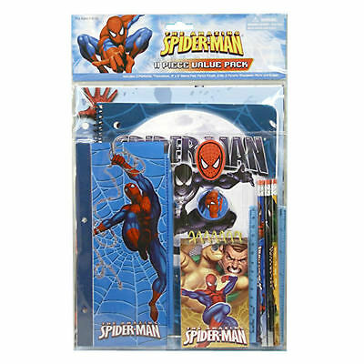 PEN PENCIL STATIONERY SET 5 PIECE THE AMAZING SPIDER-MAN 2 ERASER RULER