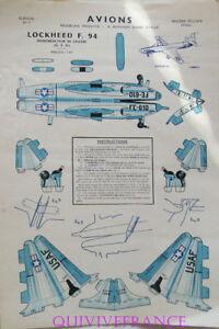 Ep82 - Avions Modeles Reduits - Image D'epinal Pellerin - Loockheed F.94