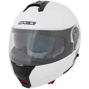 Spada-Cyclone-PEARL-WHITE-Flip-Front-DVS-Motorcycle-Motorbike-Helmet-New
