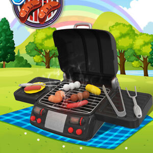 Pretend Play Kitchen Set Toys Bbq Grill For Kid Toddler Children Food Cooking Ebay