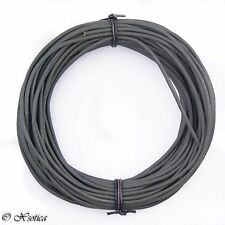 Gray Natural Dye Round Leather Cord 2mm 10 meters (11 yards)