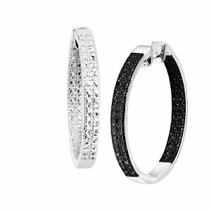 1-4-ct-Black-Diamond-Front-Back-Hoops-in-Rhodium-Plated-Bronze