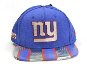 07f66feb3e8 New Era 9FIFTY NFL New York Giants Crest Logo Blue Snapback Cap ...