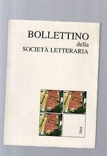 bollettino della societa' letteraria 2004
