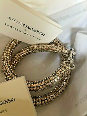 BNIB SWAROVSKI Atelier Christopher Kane Double Bolster Rose Bracelet  £149.00 | eBay