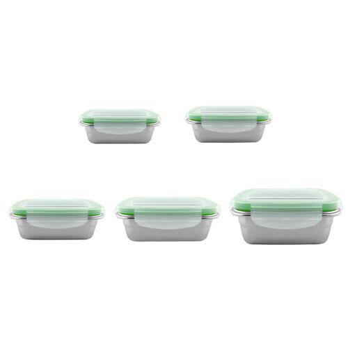 Edelstahl Nahrungsmittelbehälter Mittagessen Lebensmittel Aufbewahrungsbox Box