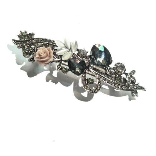 Women/'s Fashion Blue Crystal Rhinestone Hairpin Floral Hairpin Wedding Jewelry