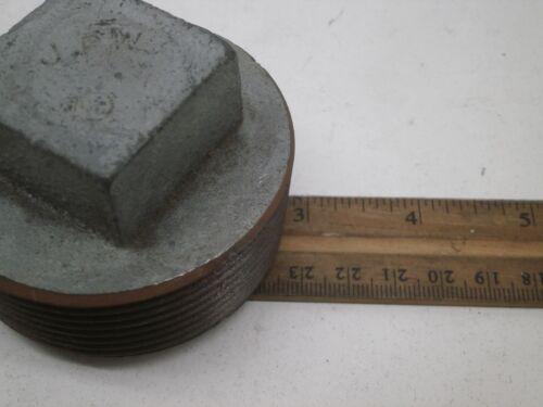 "2-1//2/"" NPT Threaded Close-Up Closure Plug Male Square Head 2.5/"""