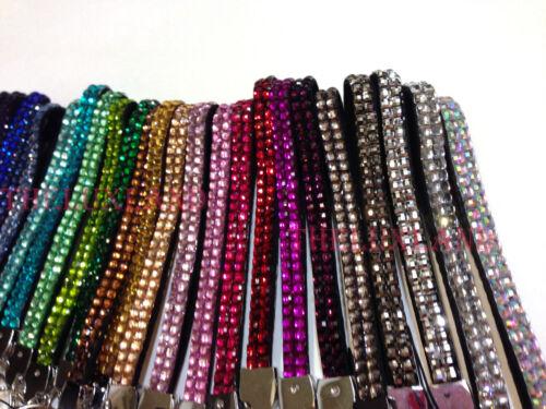 Wholesale lot Rhinestone Bling Crystal Wristlet Lanyard w// Key Chain Key Holder